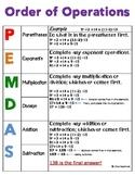 Order of Operations PEMDAS Student Handout