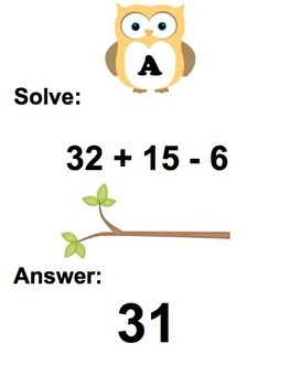 Order of Operations Scavenger Hunt PEMDAS Travel Activity Game Stations