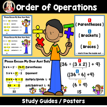 Order of Operations PEMDAS parentheses, brackets, braces