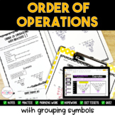 Order of Operations Pack {[(With Grouping Symbols)]}