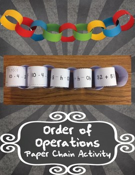 Order of Operations Paper Chain Activity