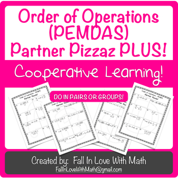 Order of Operations Partner Pizzaz Plus!