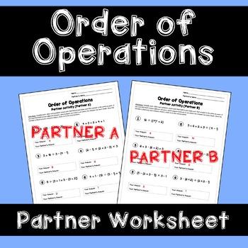 Order of Operations: Partner Worksheet
