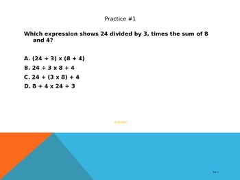 Order of Operations/ Patterns/ Prime & Composite REVIEW PowerPoint
