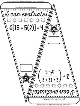 Order of Operations Math Pennant Activity