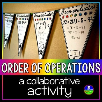 Order of Operations Math Pennant {FREE}