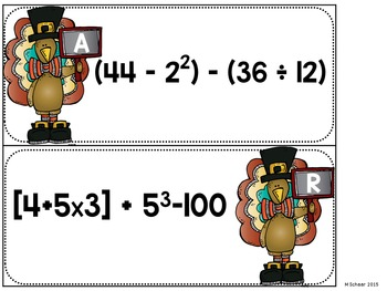 Order of Operations-Thanksgiving Edition