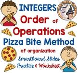 Integers Order of Operations Pizza Bite Method for Organization Smartboard Pdf
