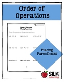 Order of Operations - Placing Parentheses