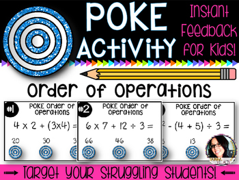 Order of Operations Poke Activity - Perfect for Math Rotations