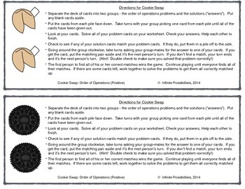 Order of Operations (Pos. and Neg.) Cooperative Card Game