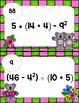 Order of Operations Positive Integers Level Medium - Math Scavenger Quest
