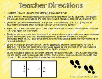 Order of Operations: Positive Integers Only - Square Puzzle Quest