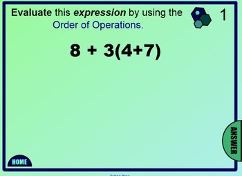 Order of Operations Positive Whole Number Expressions - 6th Grade