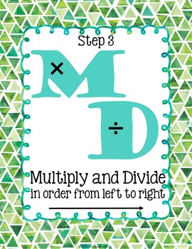 Order of Operations Poster Set