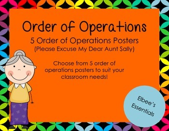 Order of Operations Posters - Black and Rainbow