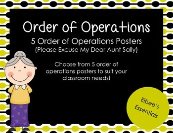Order of Operations Posters - Black and Yellow