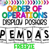 Order of Operations Posters FREEBIE