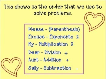 Order of Operations Power Point (Please Excuse My Dear Aunt Sally)