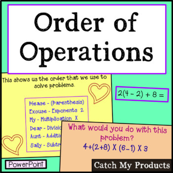 Order of Operations Power Point (Please Excuse My Dear Aun