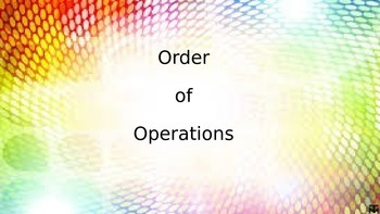 Order of Operations Power Point