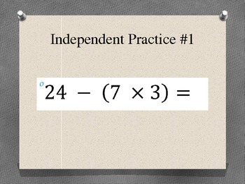 Order of Operations PowerPoint CCS OA.8