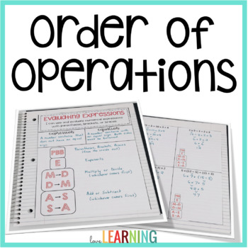 Order of Operations (PowerPoint Lesson, Interactive Notes, and More)
