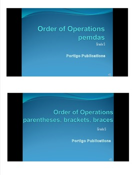 Order of Operations PowerPoint: pemdas, parentheses, brackets, braces