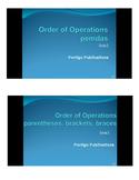 Order of Operations PowerPoint: pemdas, parentheses, brack