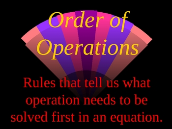 Order of Operations PowerPoint Presentation