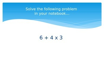 Order of Operations Powerpoint Presentation Lesson