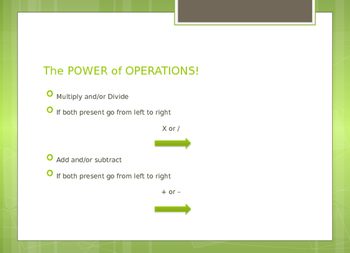 Order of Operations Powerpoint-SOL aligned