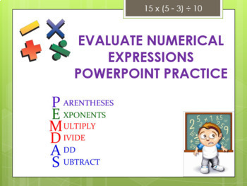 Evaluate Expressions PowerPoint Practice