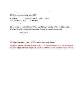 Order of Operations Practice Problems