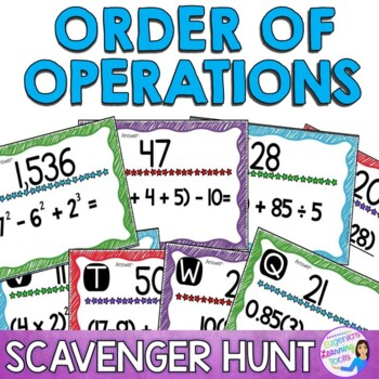 Order of Operations Practice - Scavenger Hunt