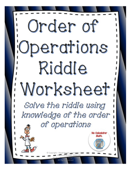 Order of Operations Practice Worksheet