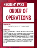 Order of Operations Problem Pass