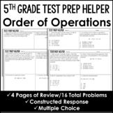 "Order of Operations - ""No Prep"" Test Prep"