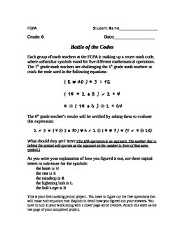 Order of Operations Project