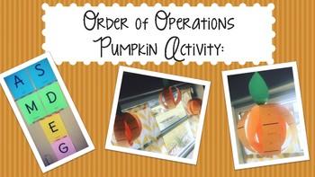 Order of Operations Pumpkin Acticity
