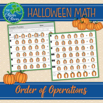 Order of Operations - Halloween Problems