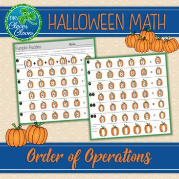Order of Operations - Pumpkin Puzzle - 5.OA.A.1