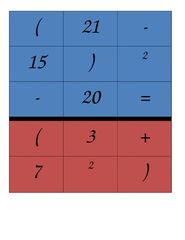 Order of Operations Puzzle