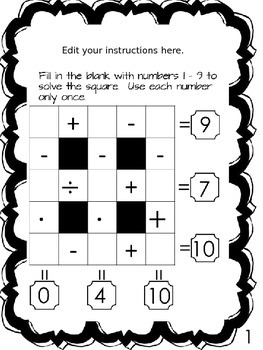 Order of Operations Puzzle Box