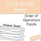 Order of Operations Puzzle (no grouping)