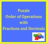 TN SPI 0506.3.1,Order of Operations Puzzle with Fractions & Decimals