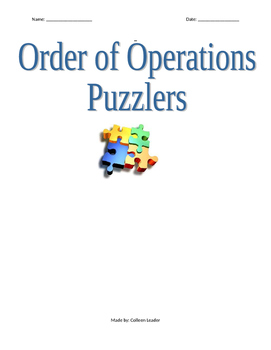 Order of Operations Puzzlers