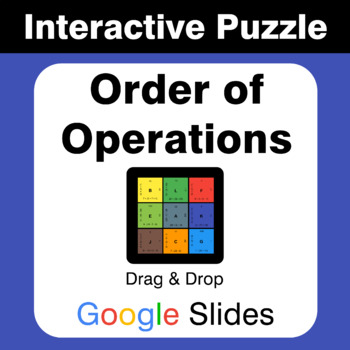 Order of Operations - Puzzles with GOOGLE Slides