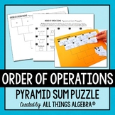 Order of Operations Pyramid Sum Puzzle