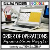 Order of Operations Pyramid Sum Puzzle: DIGITAL VERSION (f
